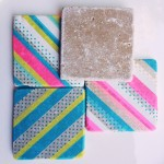 DIY } WASHI TAPE COASTERS
