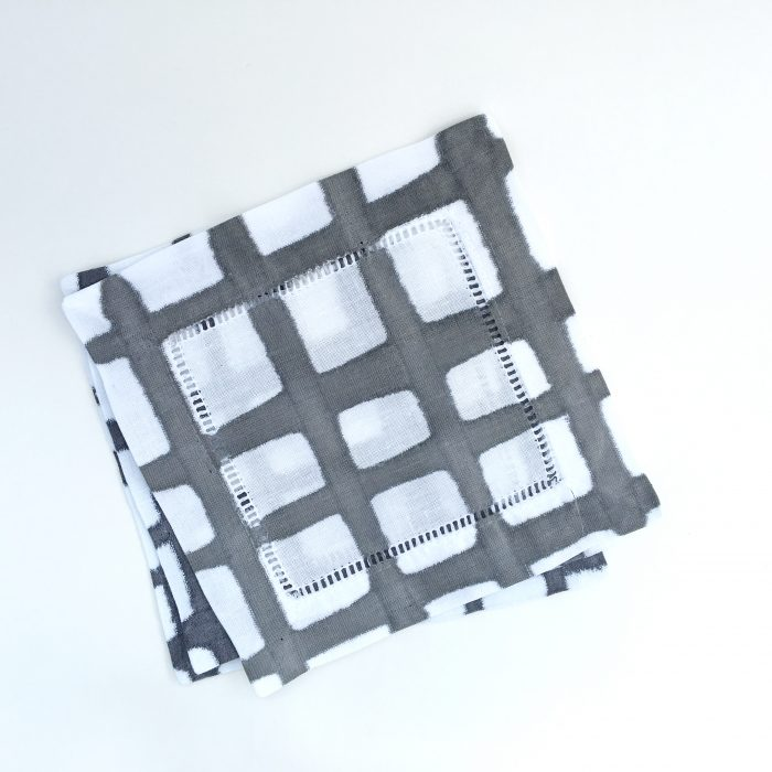 Black & White Grid Cocktail Coasters