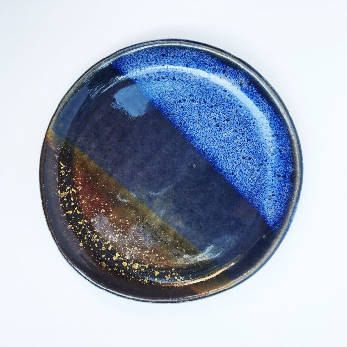 Handmade Ceramic Ring Dish Night Sky